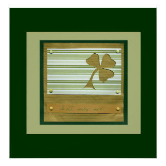 Saint Patrick's Day collage series # 1 Poster