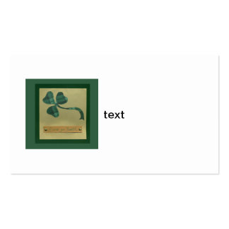 Saint Patrick's Day collage series #3 Business Card Templates