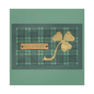 Saint Patrick's day collage series # 4 Stretched Canvas Print