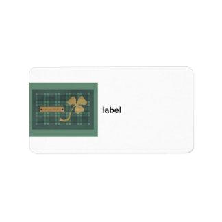 Saint Patrick's day collage series # 4 Label
