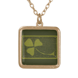 Saint Patrick's Day collage series # 6 Necklace