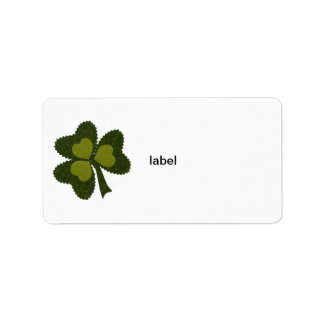 Saint Patrick's Day collage series # 9 Label