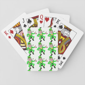 Saint Patrick's Day Dancing Leprechauns Pattern Playing Cards