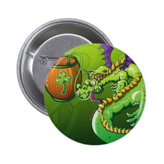 Saint Patrick's Day Dragon Pinback Button