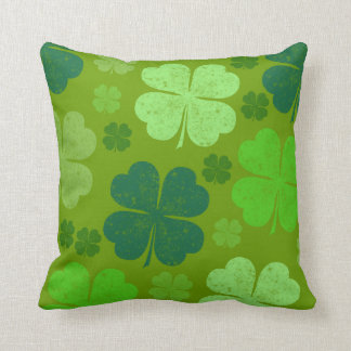 Saint Patrick's Day, Four Leaf Clovers - Green Pillows