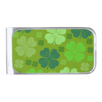 Saint Patrick's Day, Four Leaf Clovers - Green Money Clip