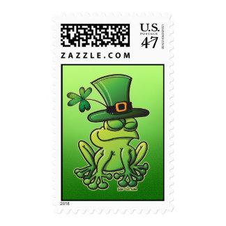 Saint Patrick's Day Frog Stamp