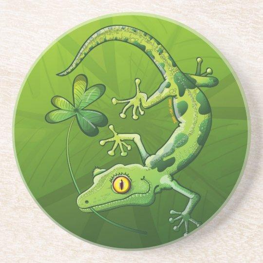 Saint Patrick's Day Gecko Drink Coaster