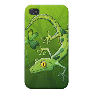 Saint Patrick's Day Gecko iPhone 4/4S Cover