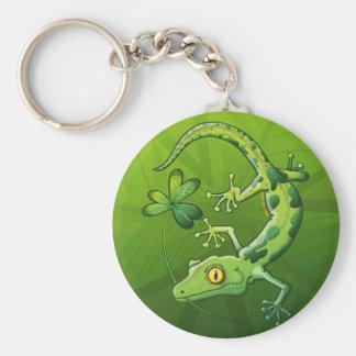 Saint Patrick's Day Gecko Keychain