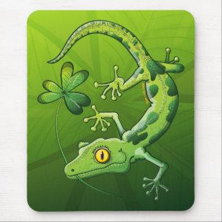 Saint Patrick's Day Gecko Mouse Pad