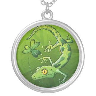 Saint Patrick's Day Gecko Necklaces
