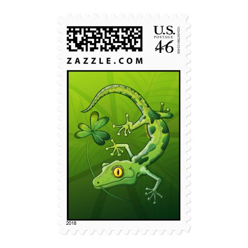 Saint Patrick's Day Gecko Stamps