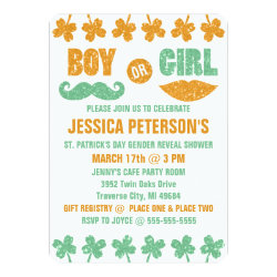 Saint Patrick's Day Gender Reveal Invitations