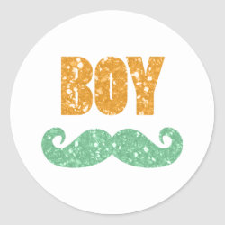 Saint Patrick's Day Gender Reveal Stickers (Boy)