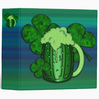 Saint Patrick's Day Green Beer 3 Ring Binder
