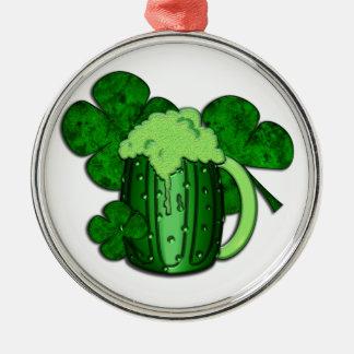 Saint Patrick's Day Green Beer Metal Ornament