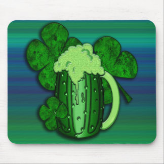 Saint Patrick's Day Green Beer Mousepad