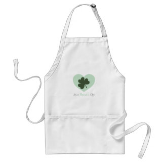 Saint Patrick's Day Heart Adult Apron