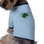 Saint Patrick's Day Heart Dog Tee Shirt