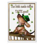 Saint Patrick's Day Irish Coffee Greeting Card
