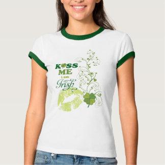 Saint Patrick's Day Kiss Me I'm Irish Shamrock Shirt