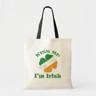 Saint Patricks Day Kiss Me Shirt Bag