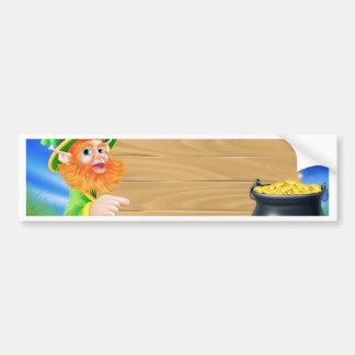 Saint Patricks day leprechaun scene Bumper Sticker