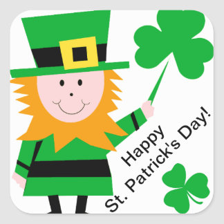Saint Patrick's Day Leprechaun Shamrock Stickers