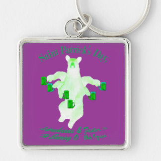 Saint Patrick's Day Leprechauns and Fester Equals Keychain