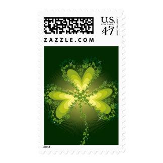 Saint Patrick's Day Lucky Clovers Shamrock Irish Postage Stamp
