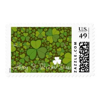 Saint Patrick's Day Lucky Clovers Shamrock Irish Stamp