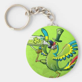 Saint Patrick's Day Macaw Keychain