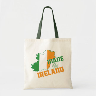 Saint Patrick's Day Made in Ireland T-Shirt Budget Tote Bag