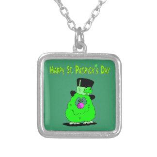 Saint Patrick's day - Square Pendant Necklace