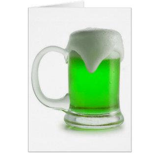 Saint Patrick's Day Notecard~Green Beer Card