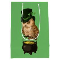 Saint Patrick's Day owl Medium Gift Bag