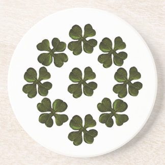 SAINT PATRICK'S DAY PARTY shamrock Drink Coaster