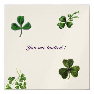 SAINT PATRICK'S DAY PARTY shamrock gold Card