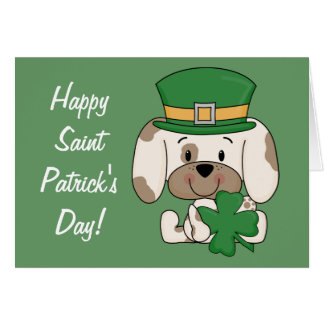 Saint Patrick's Day Pup Card