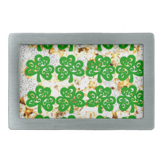 SAINT PATRICKS DAY RECTANGULAR BELT BUCKLE