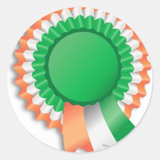 Saint Patrick's Day Ribbon Classic Round Sticker