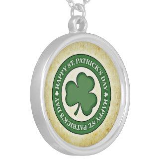 Saint Patrick's Day. Round Pendant Necklace