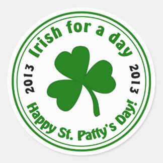 Saint Patrick's Day Shamrock 2013 Stickers