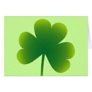 Saint Patrick's Day Shamrock Card