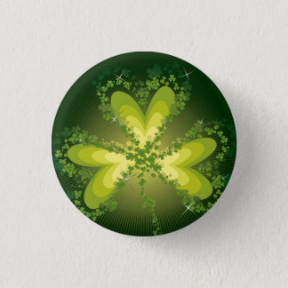 Saint Patrick's Day Shamrock Lucky Clovers Button