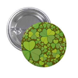 Saint Patrick's Day Shamrock Lucky Clovers Button