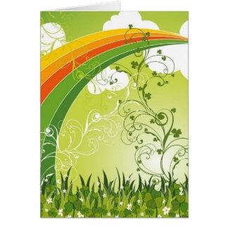 Saint Patrick's Day Shamrock Lucky Clovers Leaves Card