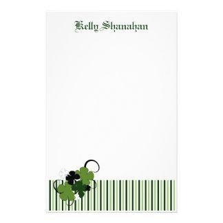 Saint Patricks Day Shamrock Personalized Stationery