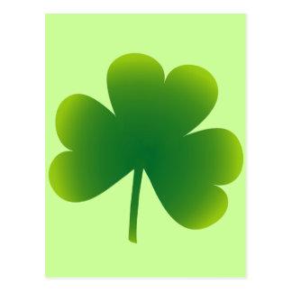 Saint Patrick's Day Shamrock Postcard